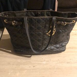 Christian Dior Lady Dior Quilted Cannage Tote Bag.